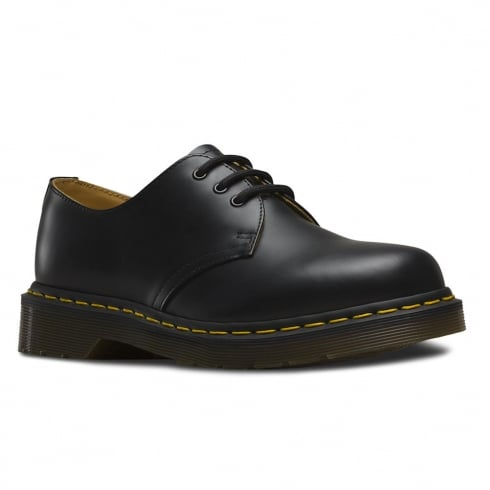 Dr. Martens Dr Martens 1461 Black Yellow Stitch Lace Up Shoes