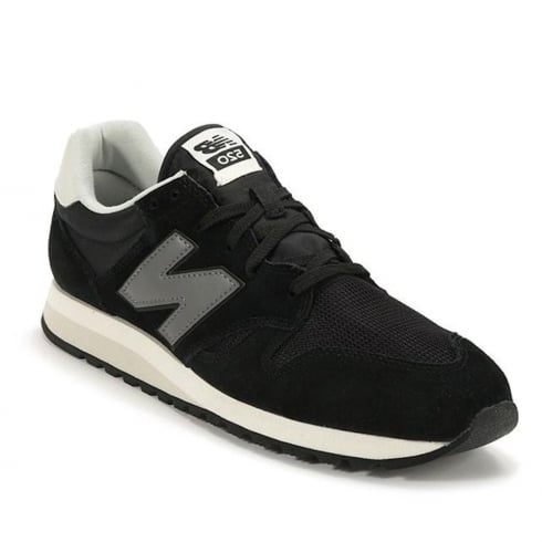 New Balance Mens New Balance Black Grey Suede U520CE Sneakers