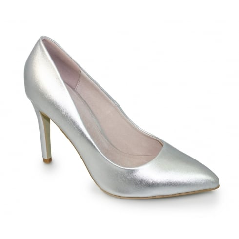 Lunar Powell FLC091 Silver Pointed Toe Court