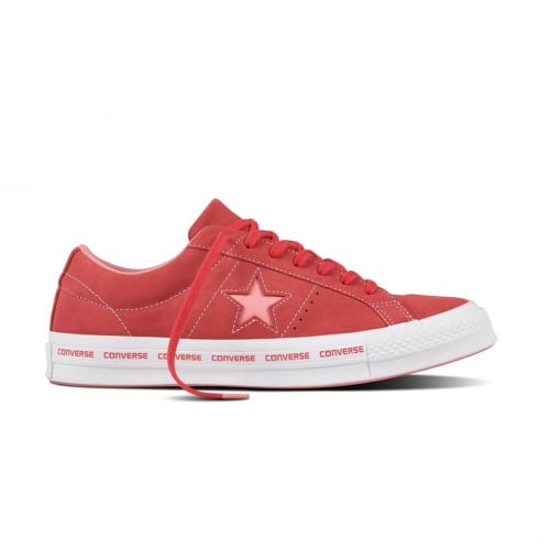 0c721adf9741a5 Converse Women s One Star Pinstripe Trainers - Pink