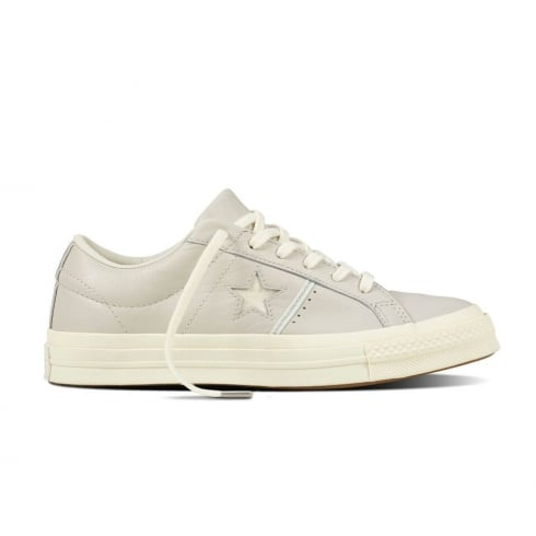 Converse Women's One Star - Putty Grey Beige Leather