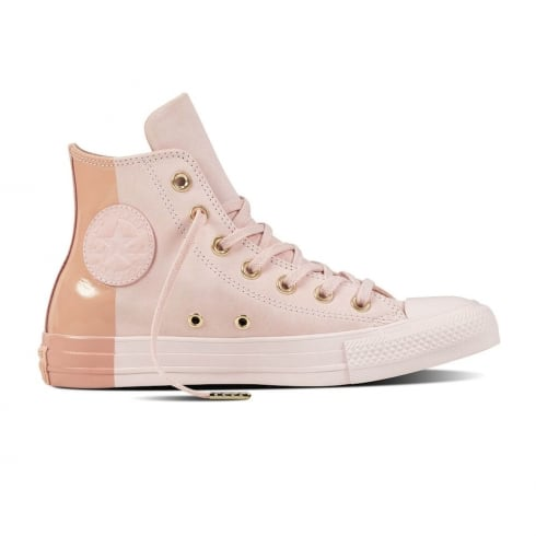 339d30093988 Converse Women s Chuck Taylor Hi Blocked Nubuck Trainers - Barely Rose