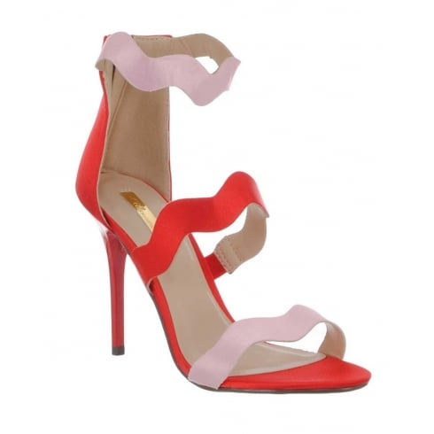 Glamour Pippa Pink Red Strappy Sandal