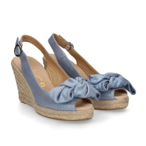 371d4231bba3 Unisa CUNDE Slingback Blue Wedge Espadrille Sandals   Millars Shoe Store