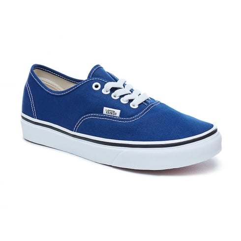 Vans Unisex Authentic Blue Canvas Low Top Trainers