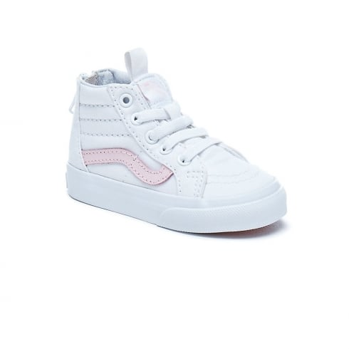 3d8dd1c5b0 Vans Toddler Girls Sk8-Hi Top Zip White Pink Shoes VA32R3Q7X   Millars Shoe  Store