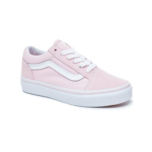 22acabd72612 Vans Kids Girls Suede Chalk Pink Old Skool Skater Shoe VA38HBQ7K   Millars  Shoe Store