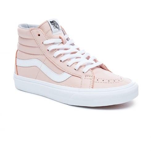 ebc24b7039 Vans Womens Pink Leather Sk8-Hi Reissue Hi Top VA2XSBQD6   Millars Shoe  Store