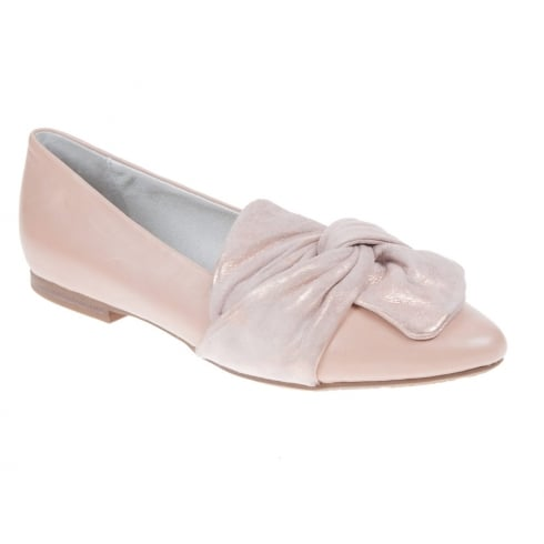 Regarde Le Ciel Julienne 28 Ladies Salmon Flat Smart Pump Shoes