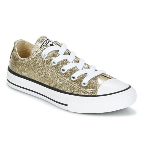f4064f5726f278 Converse Kids Chuck Taylor All Star Gold Glitter Trainers 660046C ...