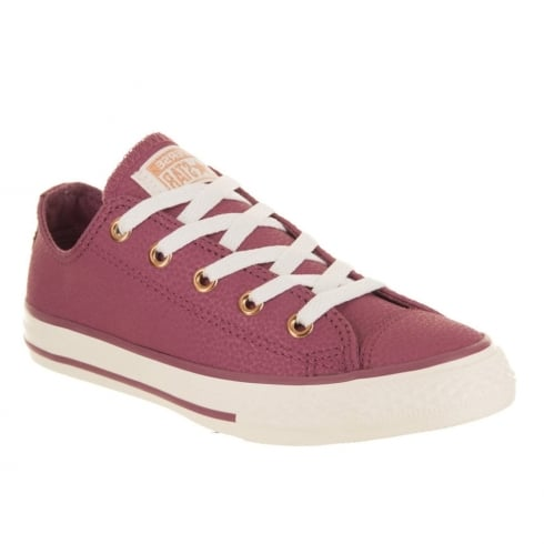 376fb3e5be4c Converse Kids Chuck Taylor All Star Grade School Leather Shoe - Vintage  Wine 660021C