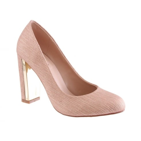 Susst Ladies Cindy Rose Gold Block Heel Courts