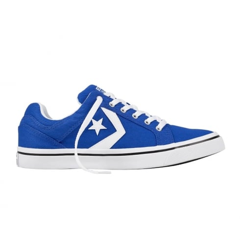 Converse Mens Distrito Tie Ox Blue Canvas Trainers