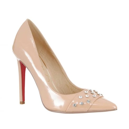 Kate Appleby Darley Pointed Toe Diamante Heeled Shoes - Nude Pearl