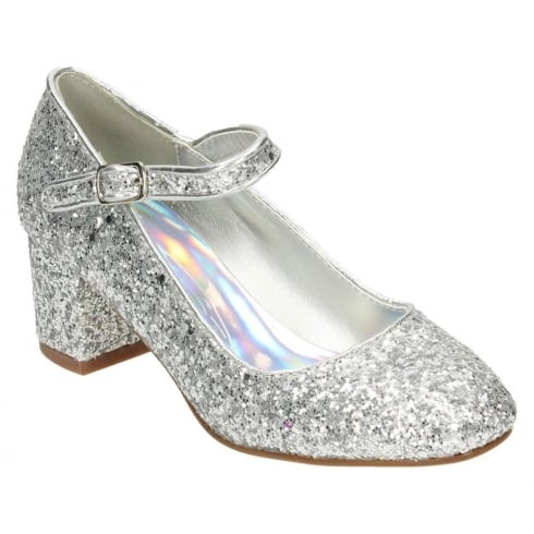 37dbc2070211 Spot On Shoes - Girls Block Heel Glitter Party Shoes