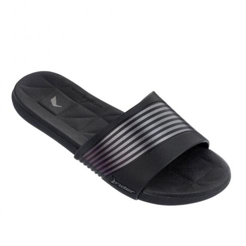 Rider Womens Resort Flat Black Slip On Flip-Flops