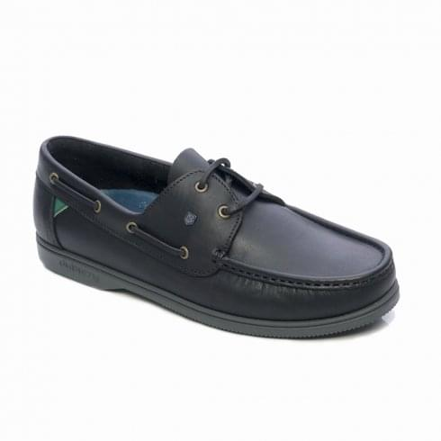 Dubarry Dubarry Womens Admirals Black Leather Deck Casual Shoes