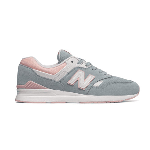 New Balance Womens 697 PinkBlue Suede Sneakers