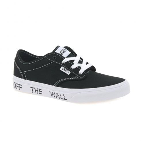 Vans Kids Atwood Black/White OTW Logo Trainers