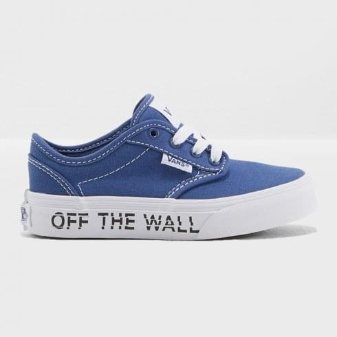 4e48aed5efc720 Vans Kids Atwood Youth Blue White OTW Logo Trainers - 3Z9Q1S   Millars shoe  store