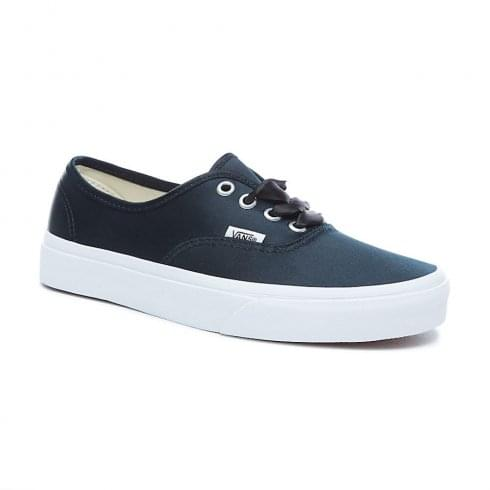Vans Black Satin Lux Authentic Low Trainers Shoes - 38EMQ9I   Millars shoe  store b5422b956