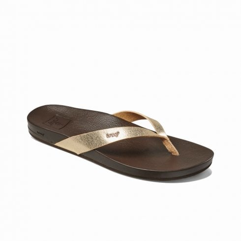Reef Womens Cushion Bounce Court Flip Flops Sandals Rose Gold