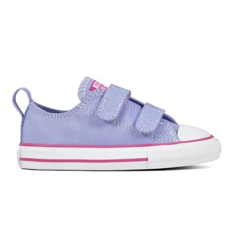 34cf11febb76 Converse Kids 2V OX Twilight Velcro Sneakers - Purple