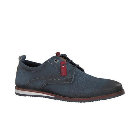 S.Oliver Mens Leather Laced  Shoes - Navy
