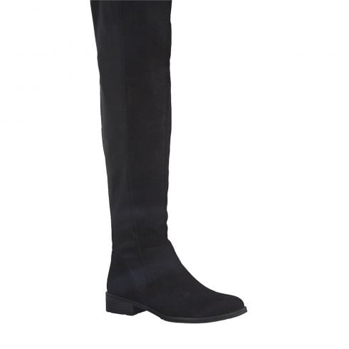Marco Tozzi Womens Suede Long Boots - Black
