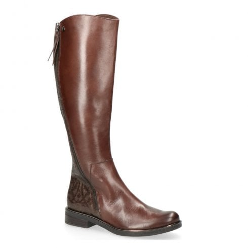 Caprice Womens Brown Flat Long Knee High Boots