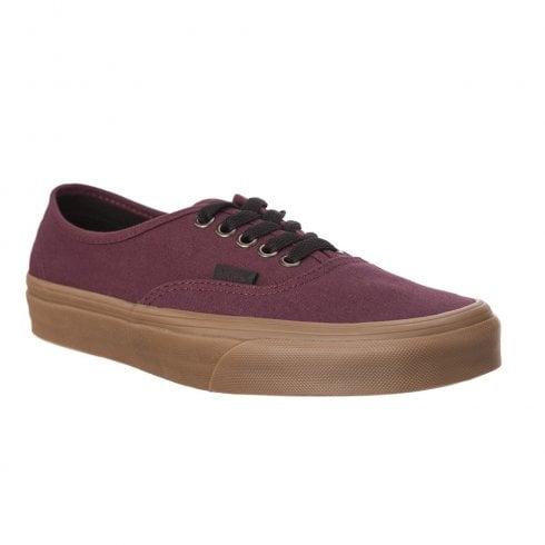 9eec34caf3 Vans Canvas Burgundy Authentic Gum Outsole Trainers   Millars Shoe Store