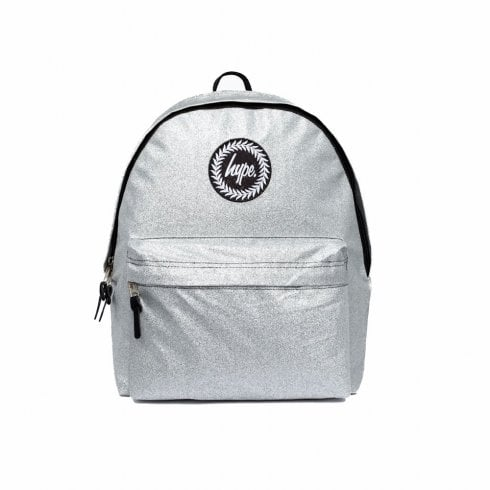 Hype Glitter Backpack - Silver