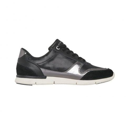 b33873cfbb5ef7 Tommy Hilfiger Camo Metallic Light Sneakers - Black