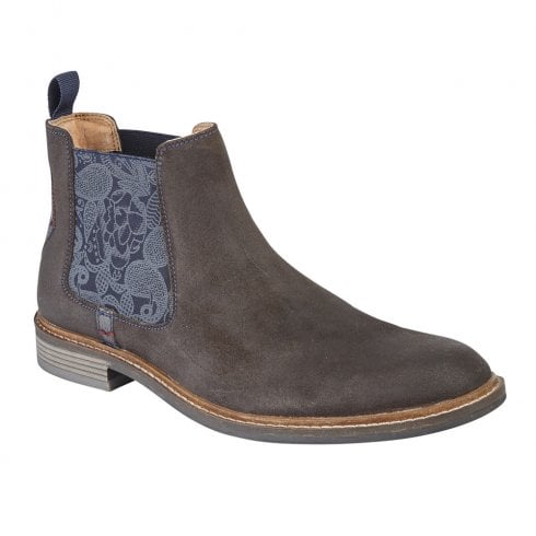 Lotus Embleton Low Block Heeled Chelsea Ankle Boots - brown