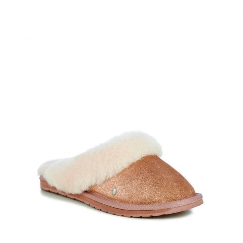 a40c1d65a078 EMU AUSTRALIA - Jolie Metallic Gold Slippers - FAST FREE Delivery