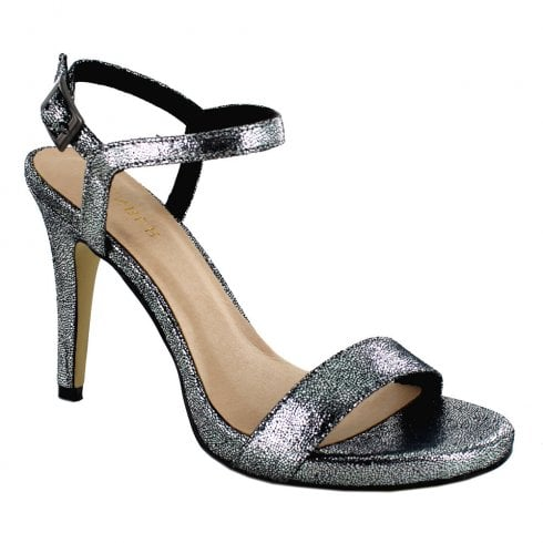 Menbur Siusi Strappy Stiletto Sandals - Grey