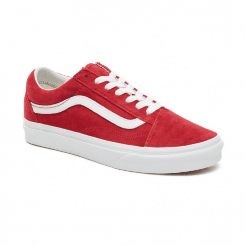 fa262be070c1 Vans Womens Old Skool Pig Suede Skate Shoes - Red   Millars shoe store