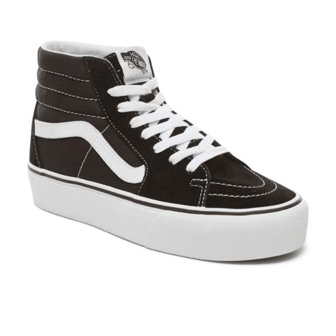 e2317e5609 Vans Womens Suede Sk8-Hi Platform 2.0 Shoes - Black   Millars shoe store