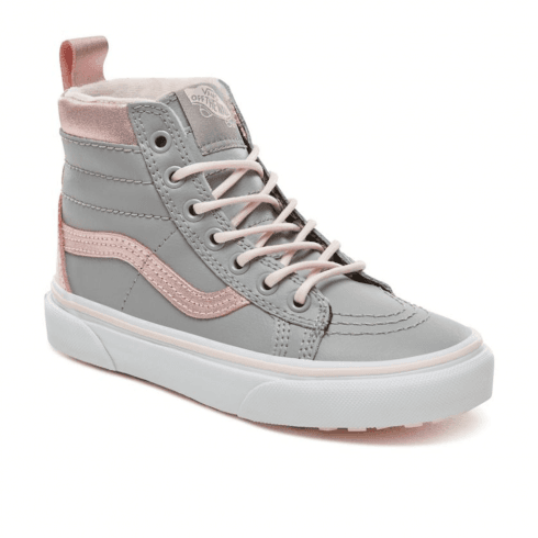 1773391121 Vans Kids Sk8-Hi Top MTE Shoes - Metallic Grey Pink   Millars shoe store
