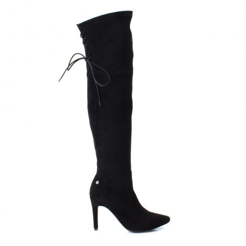 ad7859a24f9 XTI Womens Over Knee Long Heeled Boots - Black   Millars Shoe Store