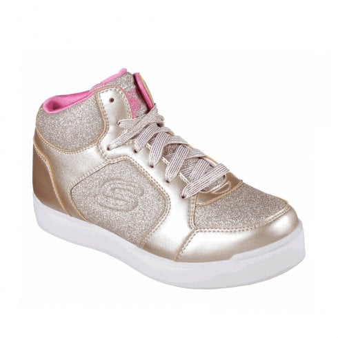 Details about Skechers ENERGY LIGHTS: E PRO GLITTER GLOW Girls Light Up Trainers Gold