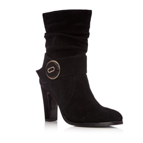 Moda In Pelle Rodeli Black Suede High Heeled Boots