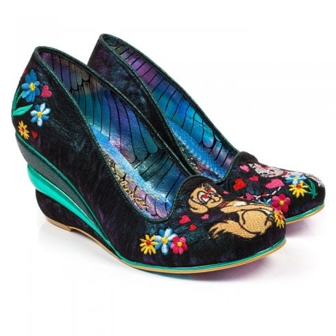 Irregular Choice - Feather & Catglow High Heels - Green