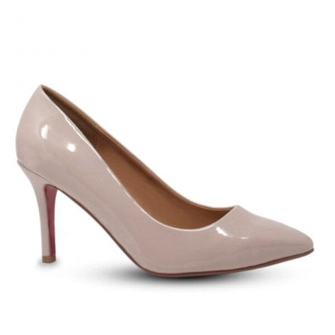 Kate Appleby Millom Medium Heeled Court Shoes - Nude Patent