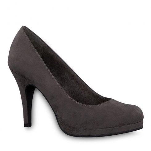 Tamaris Taggia Grey High Heeled Court Shoes
