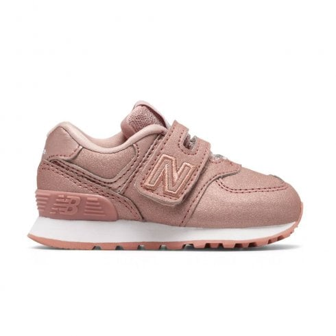 75b6d6373a676 New Balance Infant 574 Core Velcro Sneakers - DusK Pink Metallic | New  Balance Millars Shoe Store