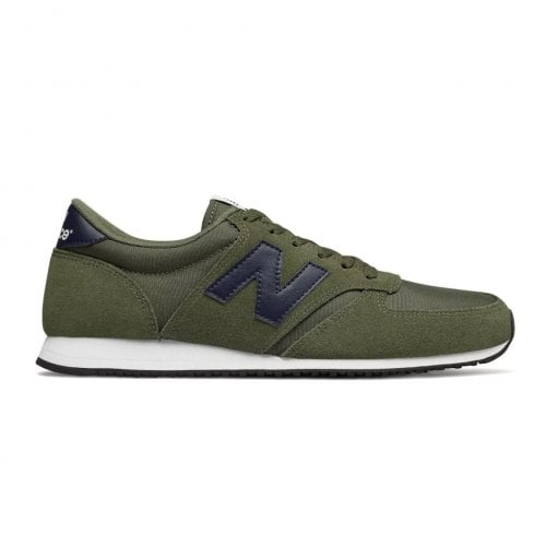 New Balance Mens 420 Lace Up Sneakers - Khaki/Navy