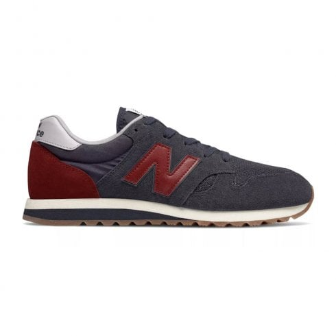 New Balance Mens 520 Suede Lace Up Sneakers - Navy/Burgundy