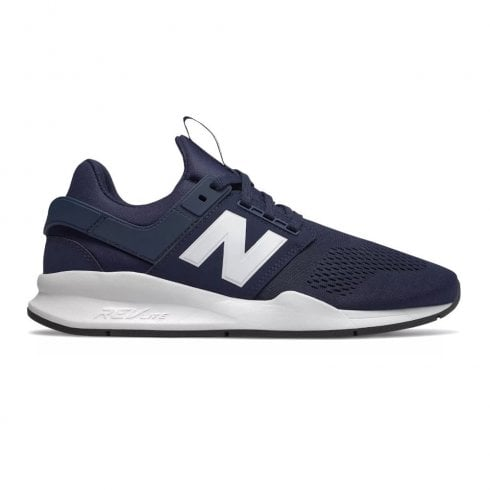 New Balance Mens 247 Mesh Lace Up Sneakers - Navy