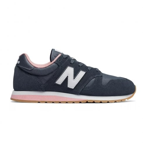 New Balance Womens 520 Suede Lace Up Sneakers - Navy